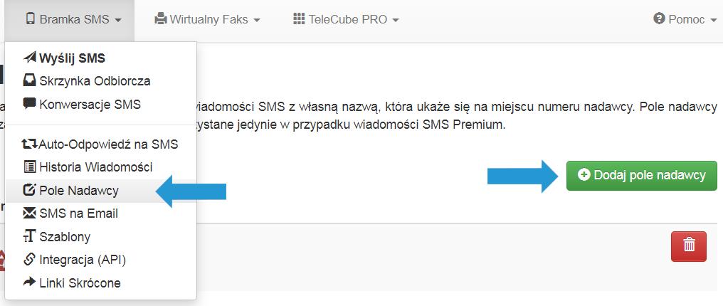 Pobierz oświadczenie aby skorzystać zopcji SMS Premium