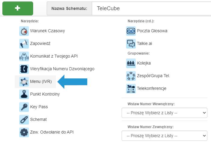 Gdzie wybrać funkcję IVR naPanelu Klienta TeleCube