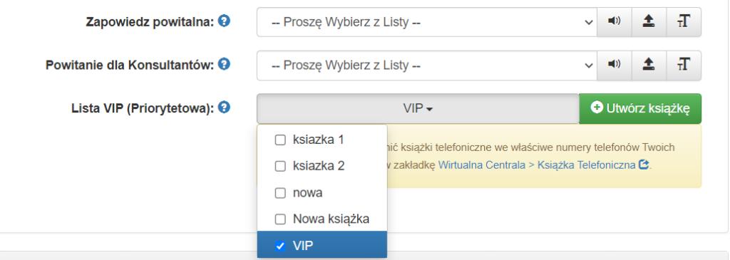Lista VIP wPanelu Klienta